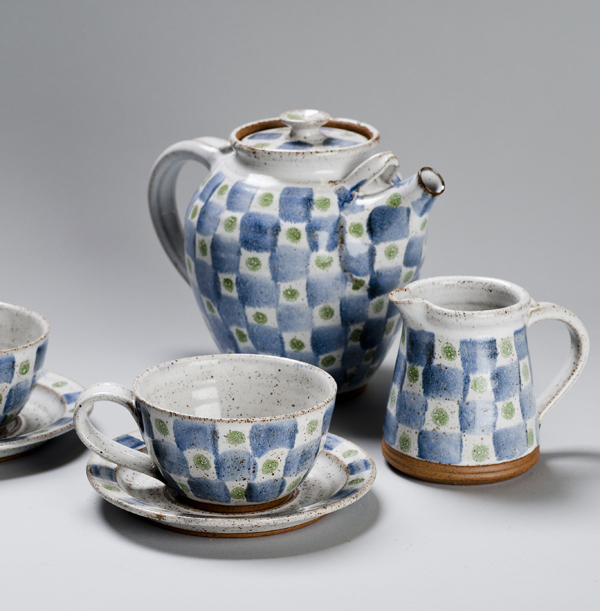Checked Tea Set